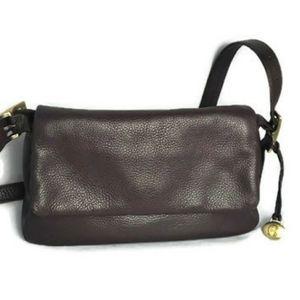 Etienne Aigner brown leather shoulder bag purse